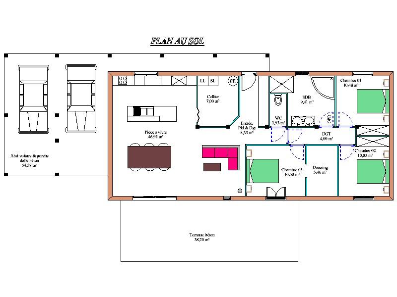 Maison auto construction r f 14 15 pr s de mont de marsan for Constructeur de maison mont de marsan