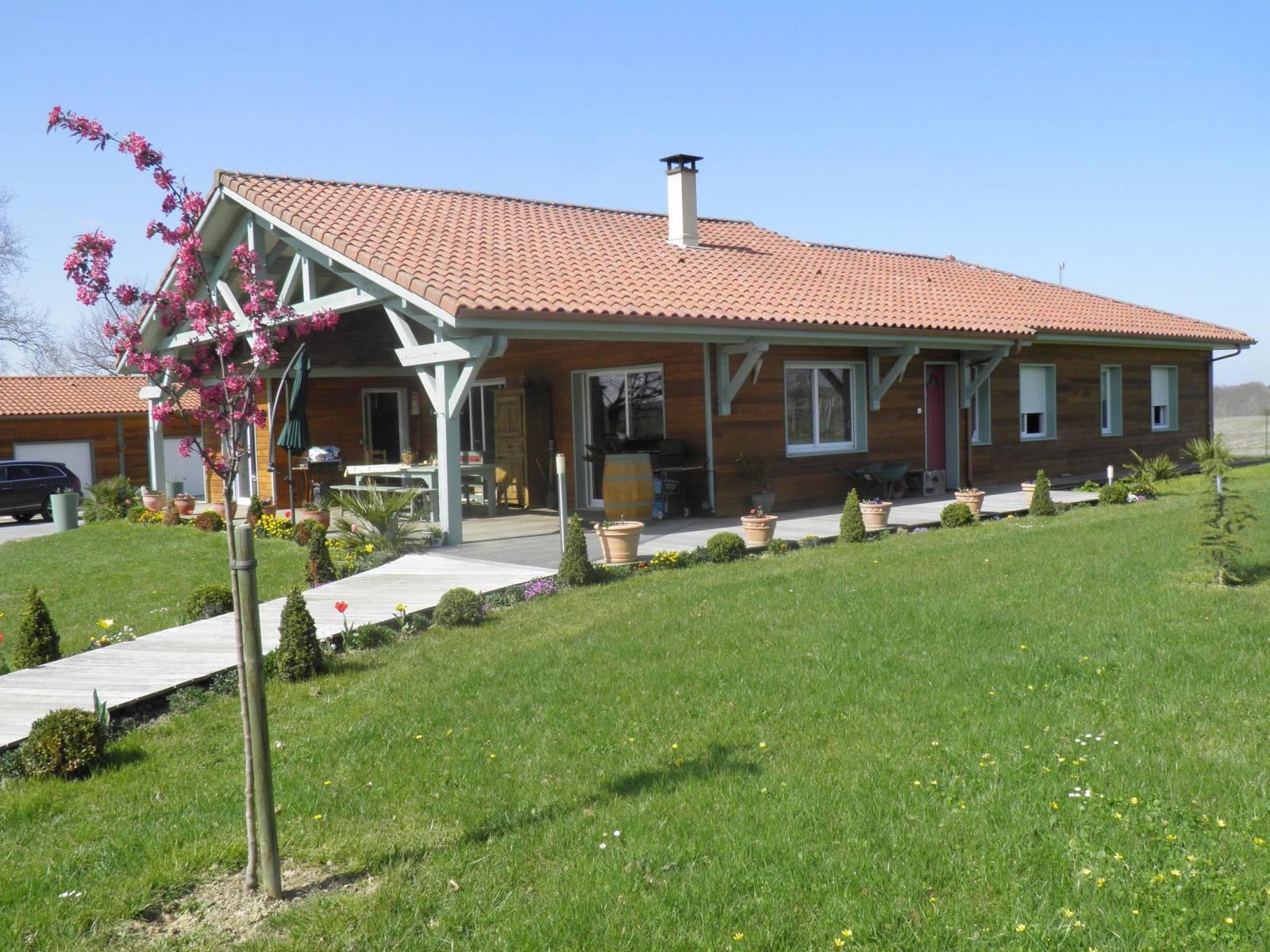maison construction bois r f 16 17 pr s de nogaro dans le gers 32 cogebois