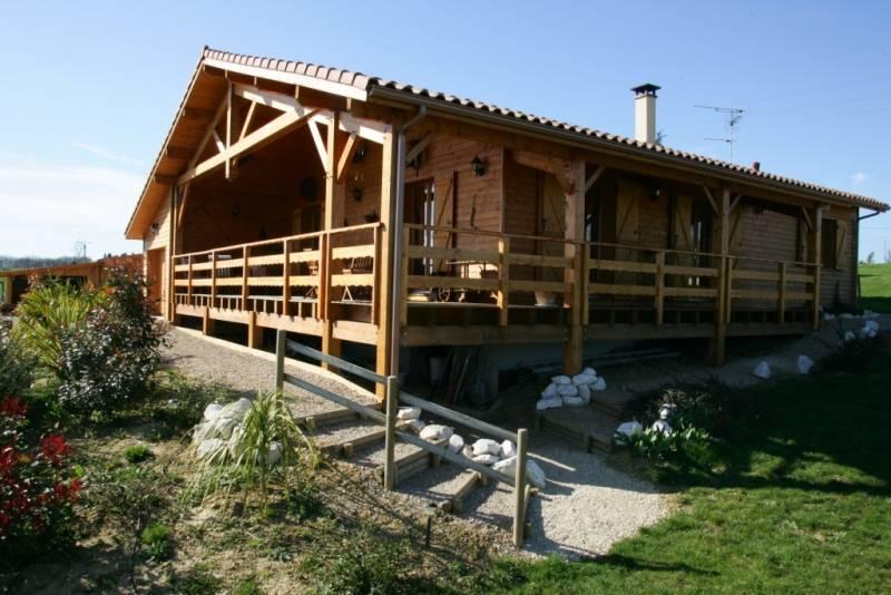 Maison ossature bois r f 4 pr s de cadours en haute for Constructeur de maison en bois haute garonne