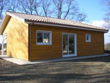 Maison ossature bois r f 6 7 pr s de nogaro dans le gers for Maison en autoconstruction