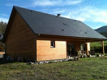 Maison auto construction r f 6 pr s de argel s gazost dans les hautes pyr n es 65 cogebois for Construction maison en bois hautes pyrenees