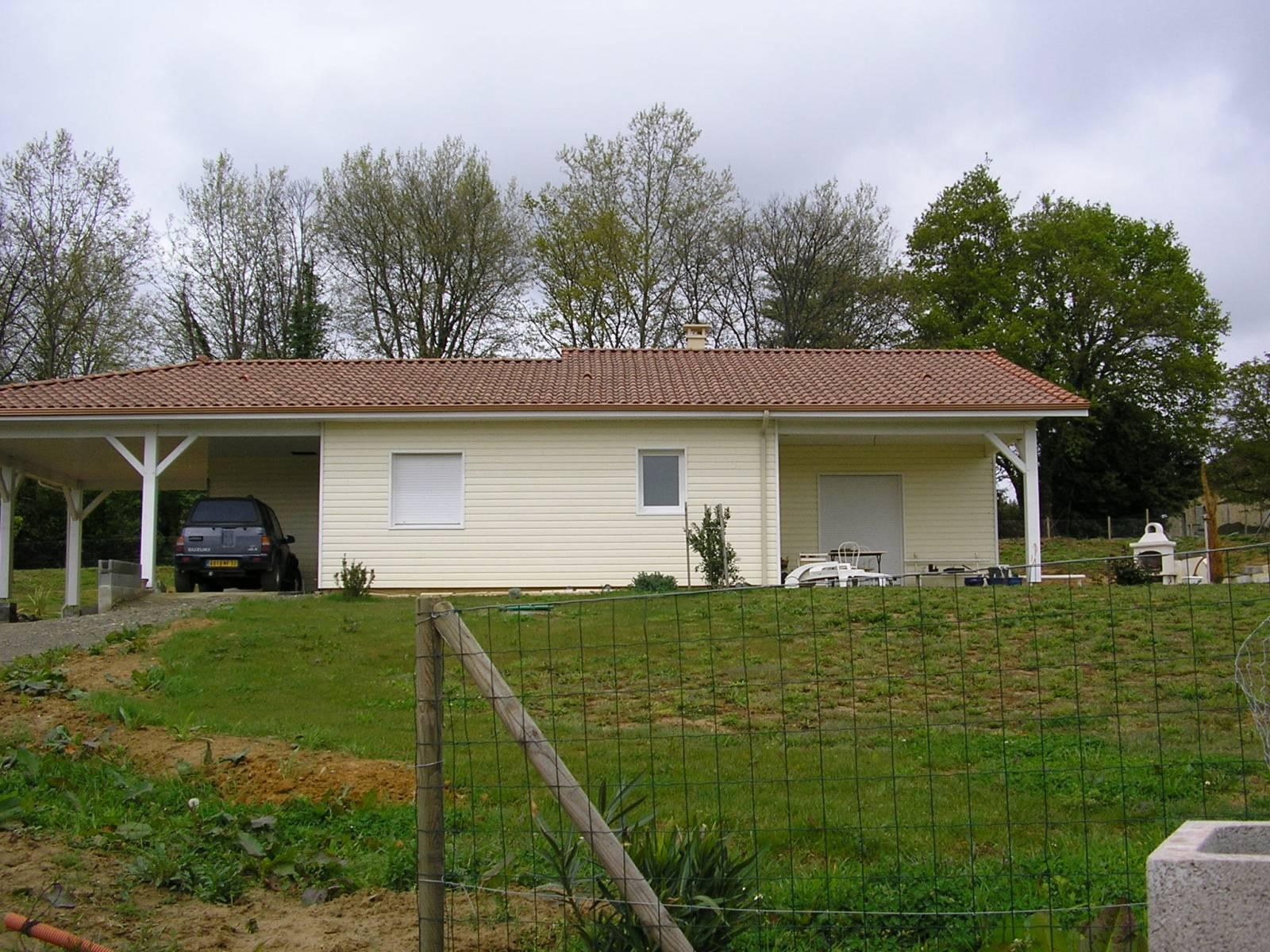 Maison ossature bois réf 16 près de Nogaro dans le Gers (32)  Cogebois
