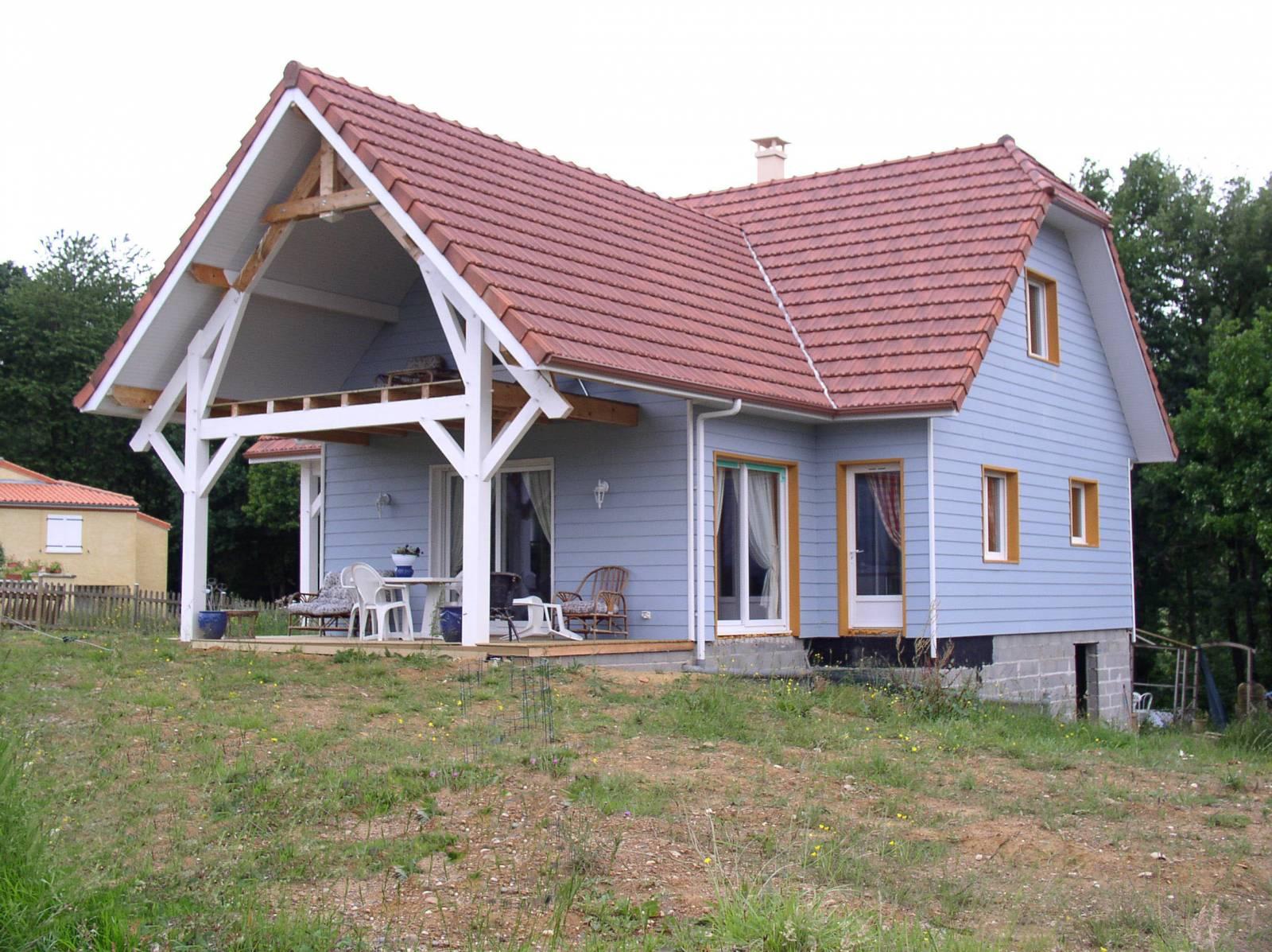 Maison ossature bois hors d eau hors d air for Prix maison hors d eau hors d air 130m2