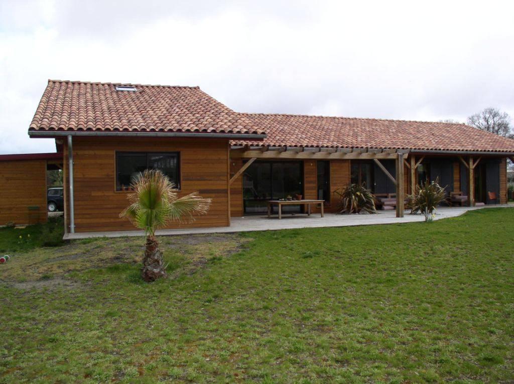 Maison ossature bois r f 20 pr s de vieux boucau dans les for Constructeur de maison en bois dans les landes