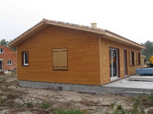 Maison bois r f 22 pr s de soulac en gironde 33 cogebois for Maison en autoconstruction