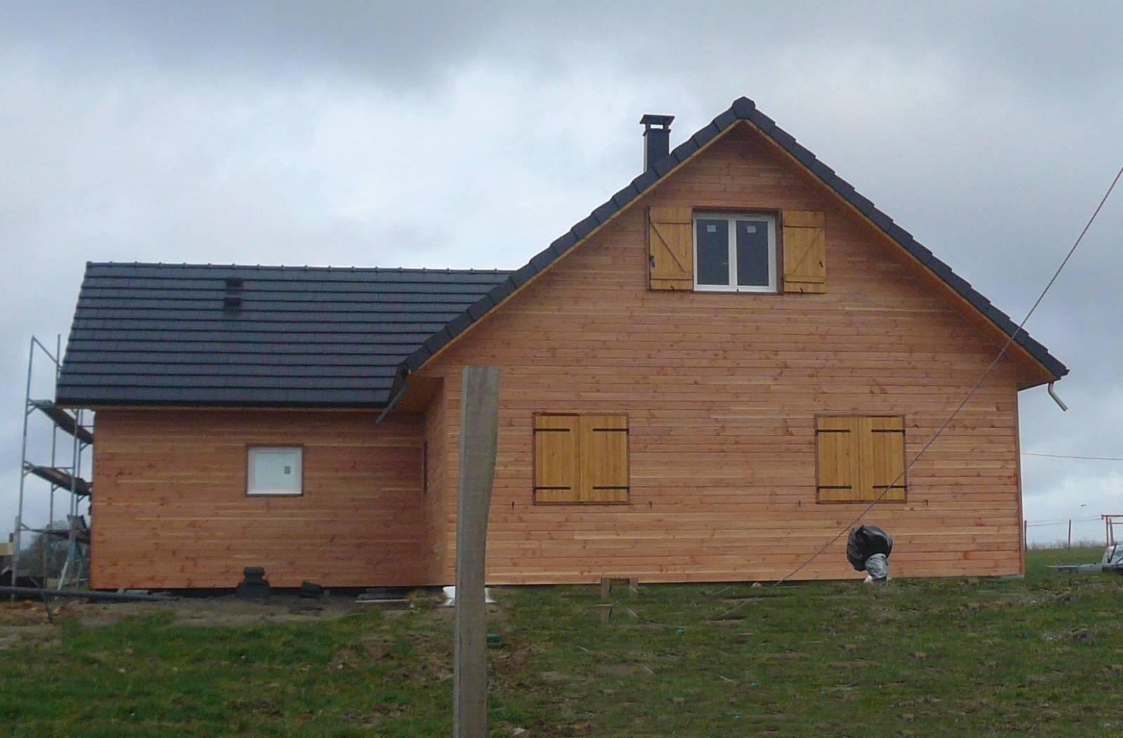 maison ossature bois r f 23 pr s de vic en bigorre dans les hautes pyr n es 65 cogebois. Black Bedroom Furniture Sets. Home Design Ideas
