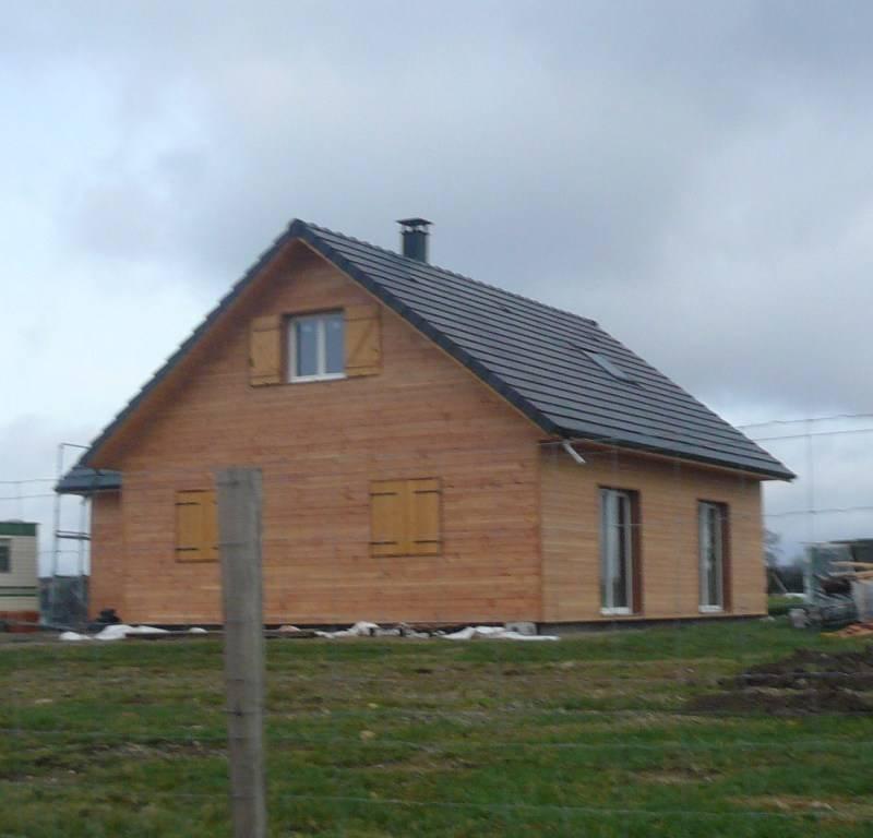 Maison ossature bois r f 23 pr s de vic en bigorre dans for Constructeur de maison hautes pyrenees