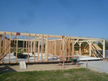 Maison ossature bois r f 23 pr s de vic en bigorre dans les hautes pyr n es 65 cogebois for Construction maison en bois hautes pyrenees