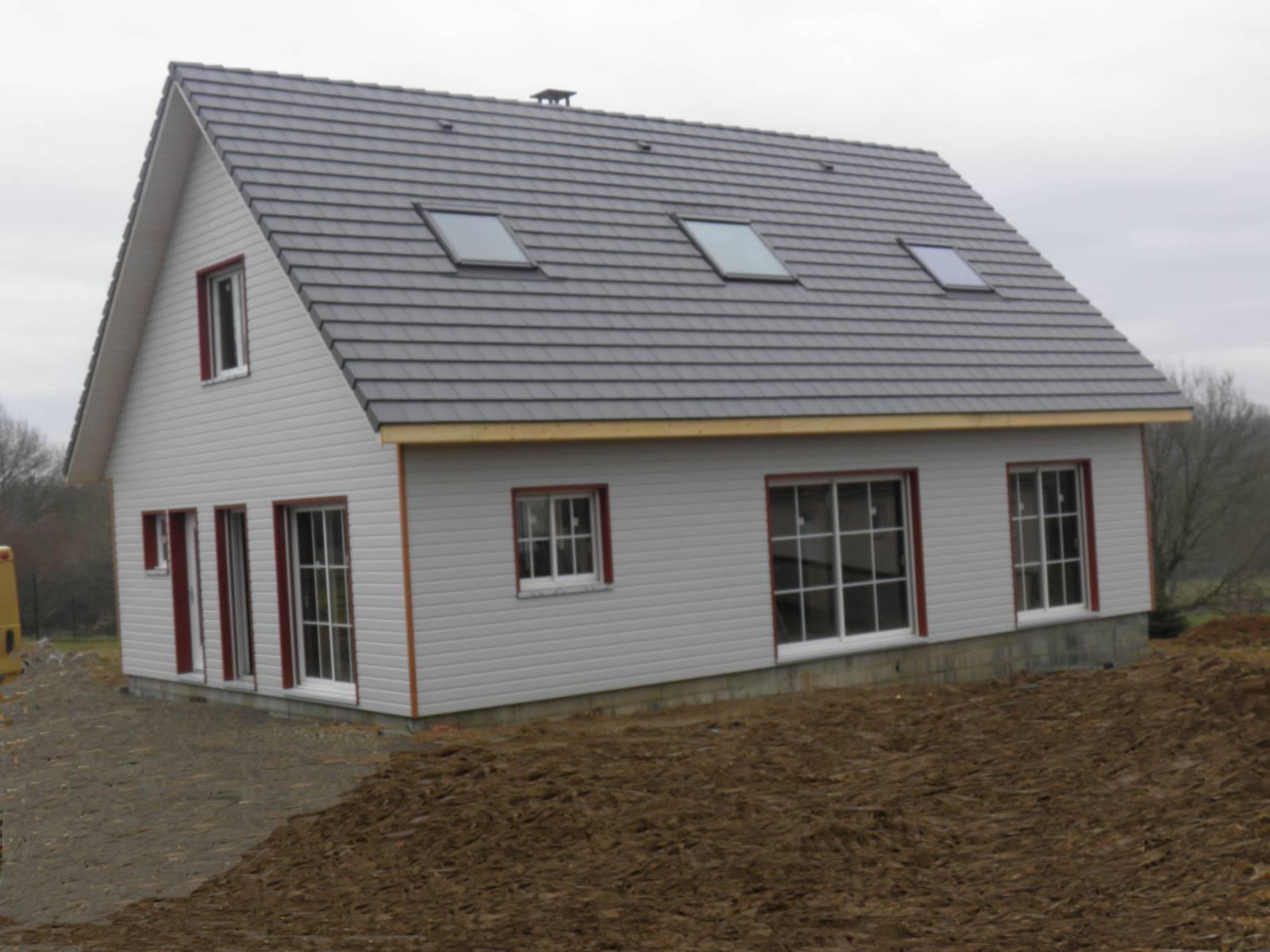 Maison auto construction r f 25 pr s de pau dans les for Auto construction maison