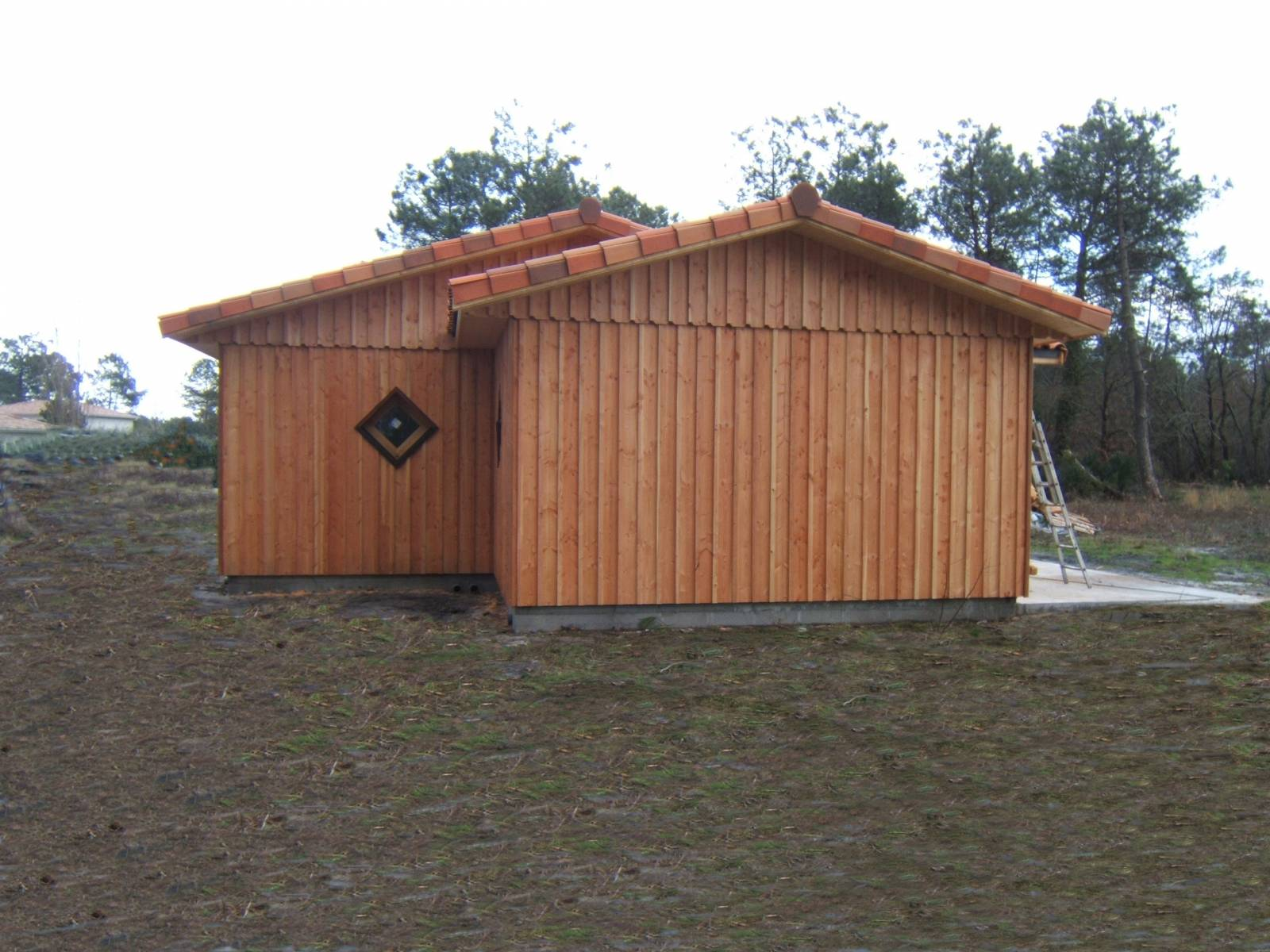 Maison bois r f 28 pr s d 39 arcachon en gironde 33 for Maison bois aquitaine