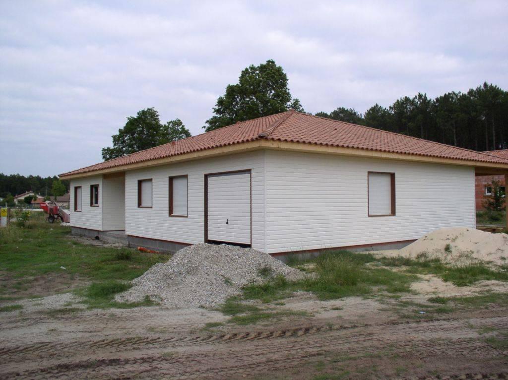 maison construction bois r f 26 pr s de castets dans les landes 40 cogebois. Black Bedroom Furniture Sets. Home Design Ideas