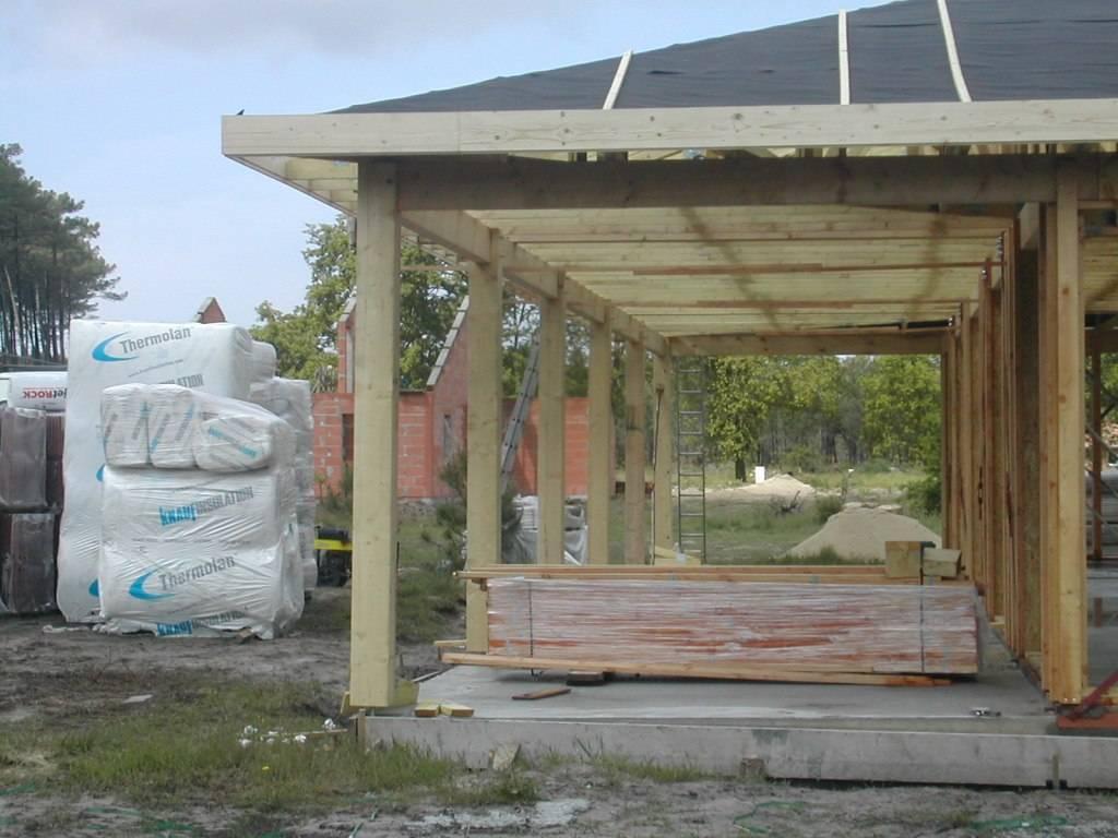 Maison construction bois r f 26 pr s de castets dans les for Constructeur maison landes 40