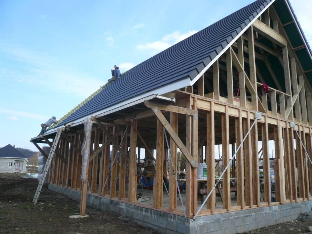 Maison construction bois r f 28 pr s de nay dans les pyr n es atlantiques 64 fabrication et for Construction maison en bois hautes pyrenees