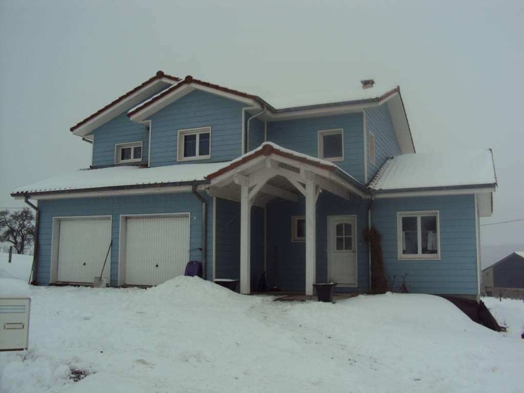 Maison ossature bois r f 12 pr s de mulhouse dans le for Construction bois 68