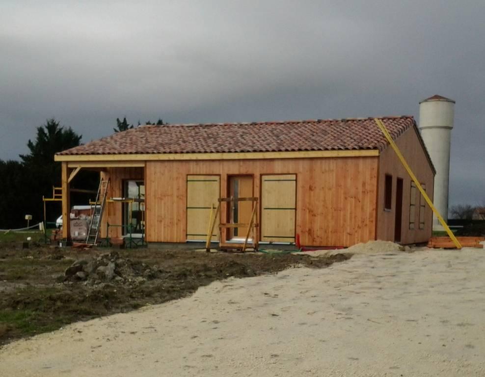 Maison Bois Charente Maritime - Maison construction bois réf 33 pr u00e8s de Donzac en Charente Maritime (17) Fabrication et