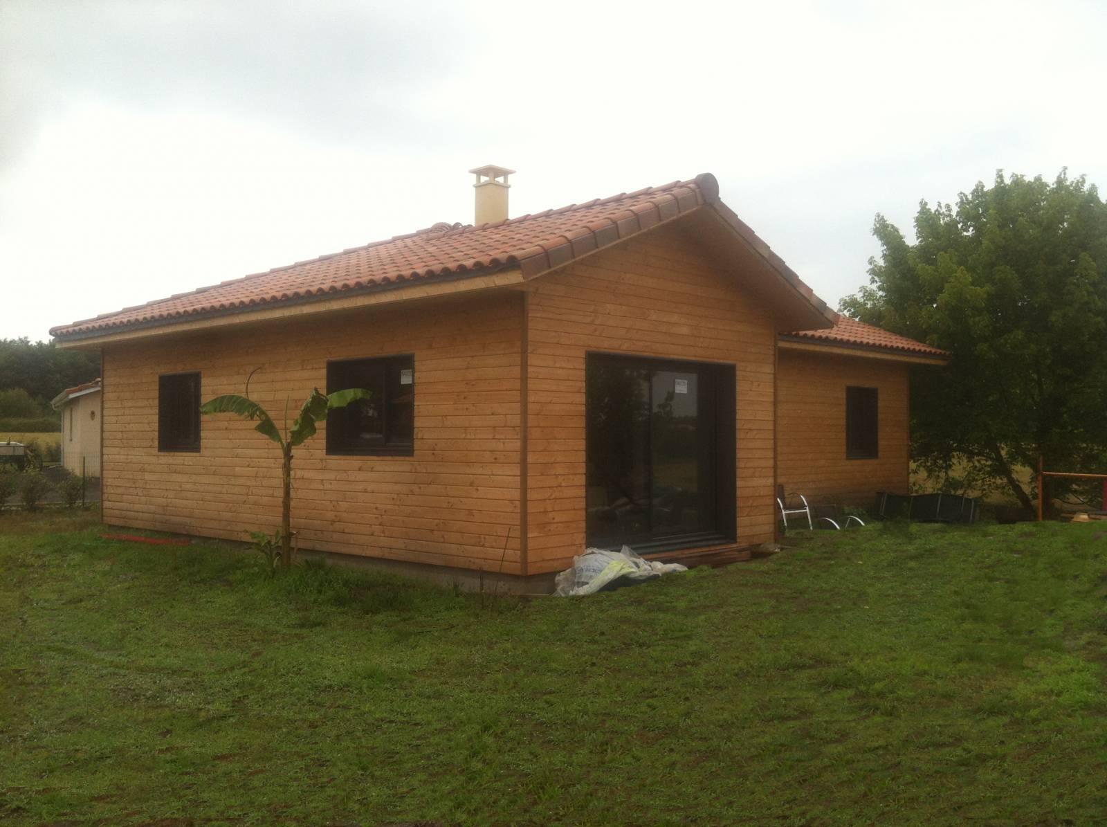 maison bois r f 34 pr s de soustons dans les landes 40 cogebois. Black Bedroom Furniture Sets. Home Design Ideas