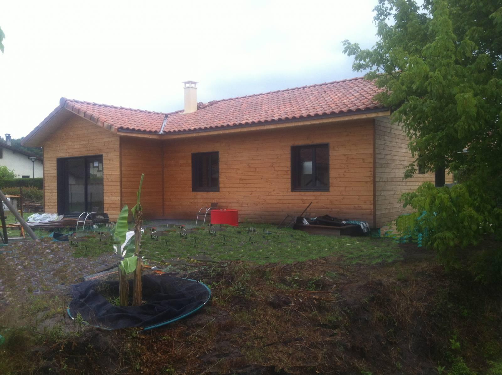maison bois r f 34 pr s de soustons dans les landes 40. Black Bedroom Furniture Sets. Home Design Ideas
