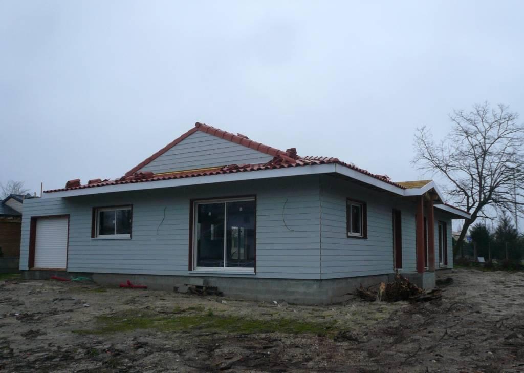 Maison ossature bois r f 37 pr s de bordeaux en gironde for Constructeur de maison en bois 33