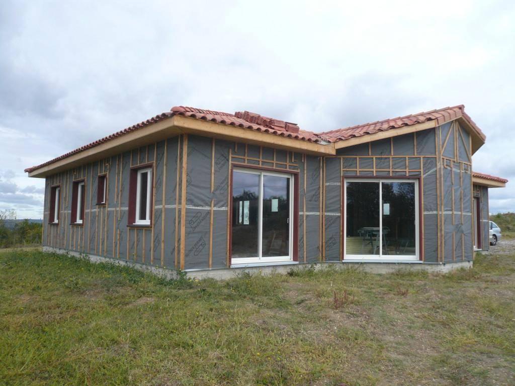 Maison ossature bois r f 38 pr s de ste livrade s lot en for Constructeur maison contemporaine lot et garonne