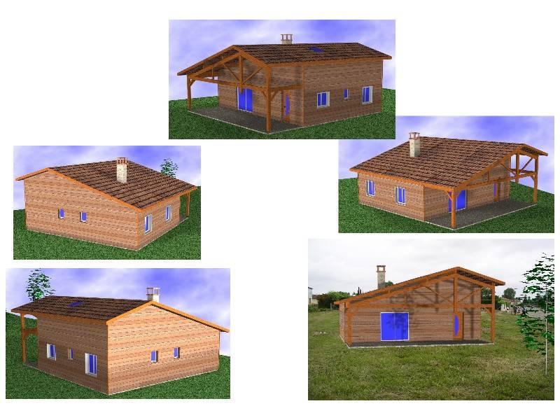 Maison ossature bois r f 30040 pr s de mimizan dans les for Constructeur de maison en bois dans les landes