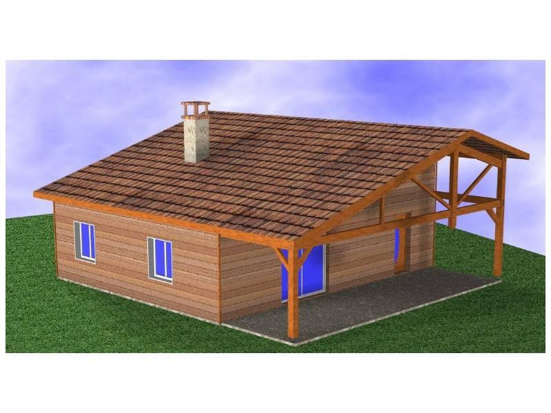 Maison ossature bois r f 30040 pr s de mimizan dans les for Constructeur maison landes 40