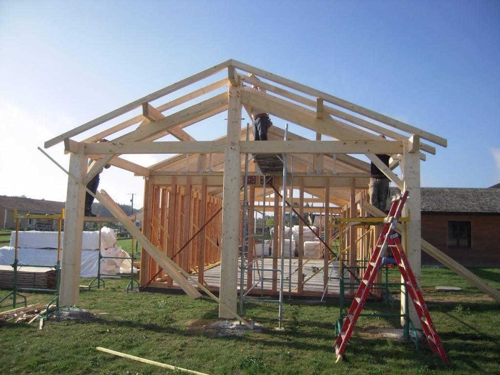 Maison auto construction r f 41 pr s de poitiers dans la for Construction bois 86