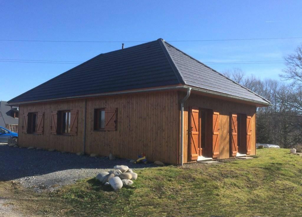 Maison construction bois r f 29 pr s de lanemezan 65 cogebois for Construction maison en bois hautes pyrenees