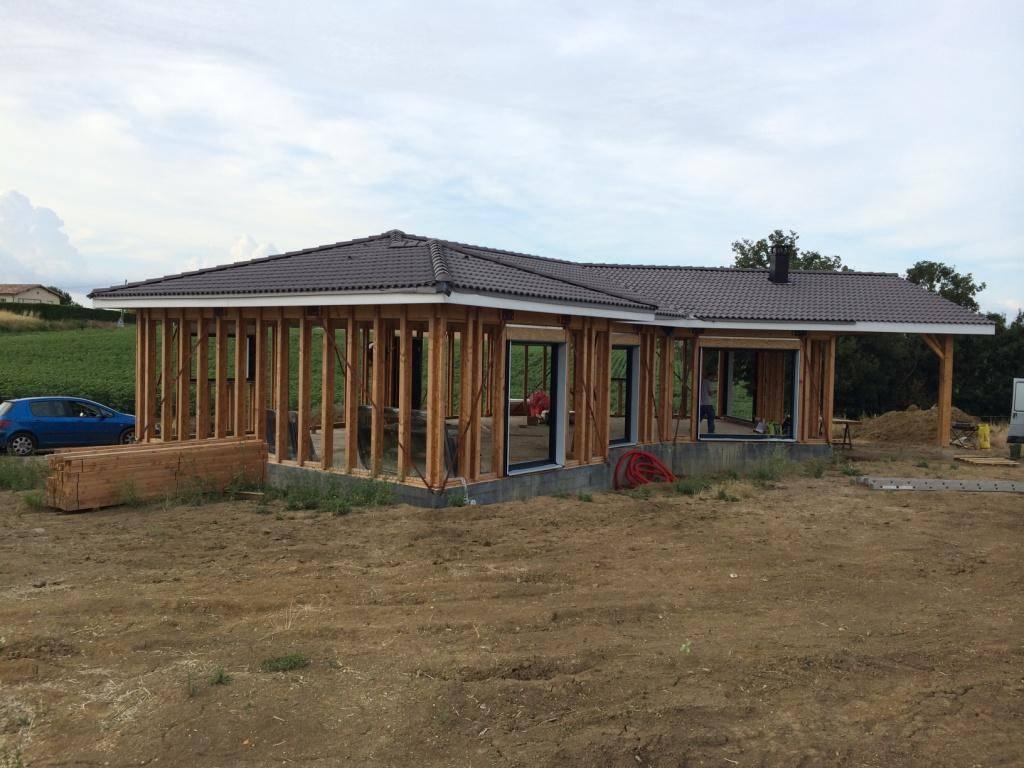 maison construction bois r f 34 pr s de l 39 isle jourdain en haute garonne 31 cogebois. Black Bedroom Furniture Sets. Home Design Ideas