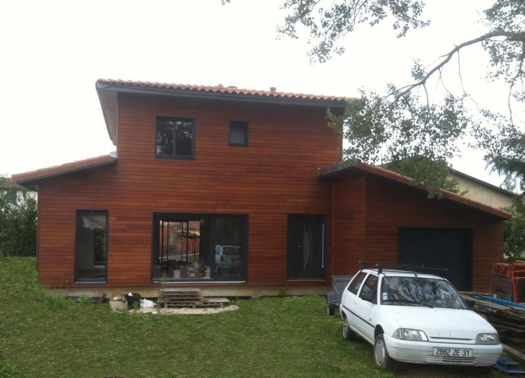 Maison ossature bois r f 31 pr s de toulouse en haute for Constructeur maison individuelle haute garonne