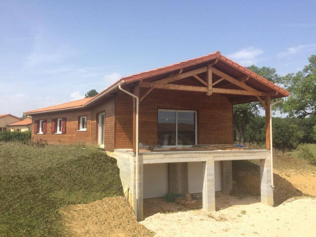 Maison bois auto construction pr s de boulogne s gesse en for Autoconstruction maison bois