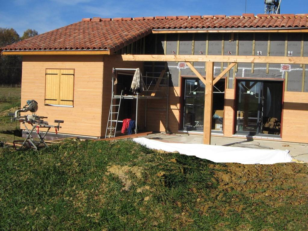Maison construction bois r f 44 pr s de st gaudens en - Maison construction rapide ...