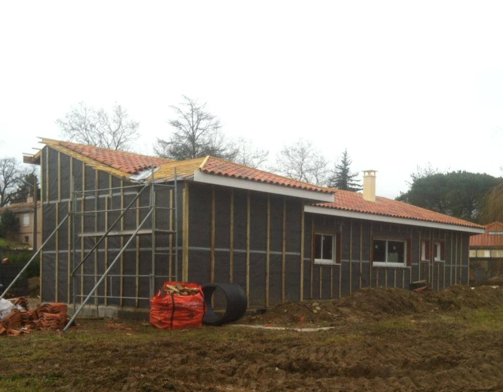 Maison ossature bois r f 30041 pr s de toulouse en haute for Constructeur de maison en bois haute garonne