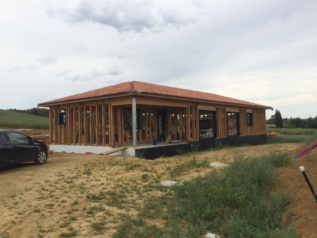Maison ossature bois r f 44 pr s de endoufielle dans le for Construction bois 44