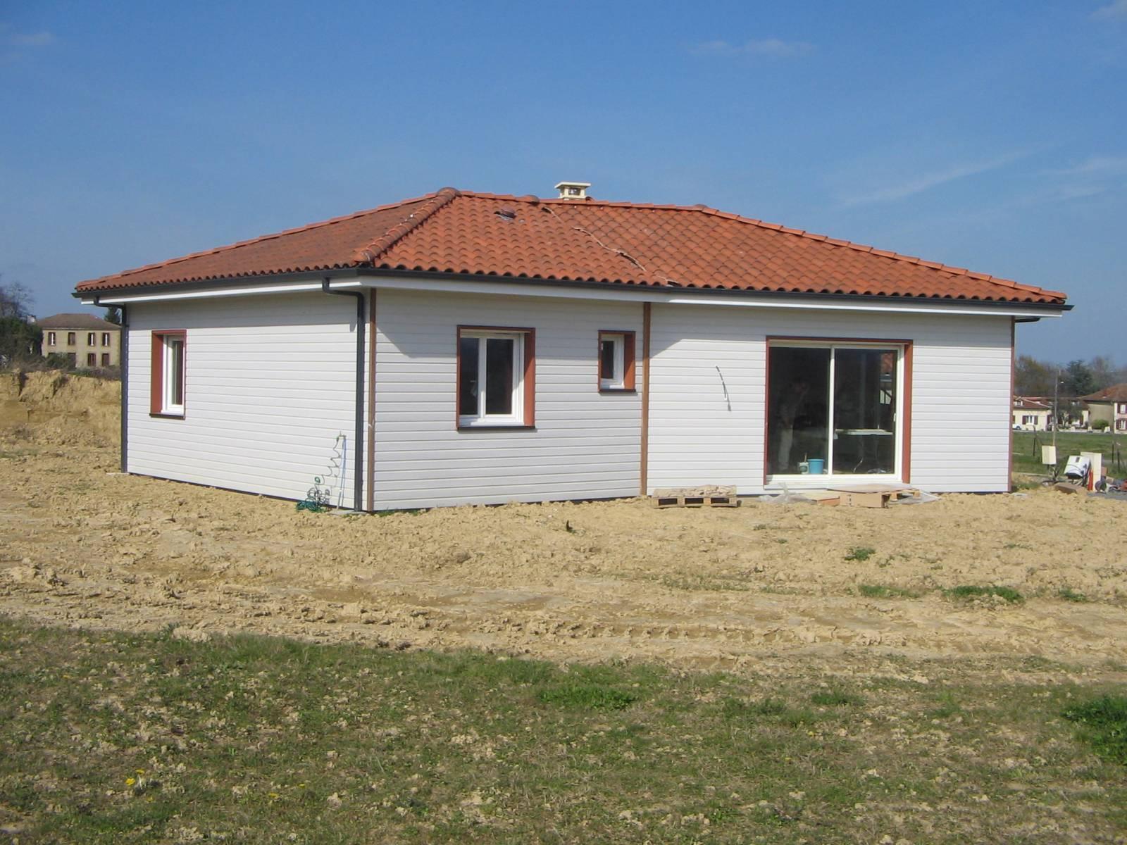Maison Ossature Bois Clé En Main - MAISON BOIS CLÉ EN MAIN A CASTELNAU MAGNOAC (65) ref 10045 Cogebois
