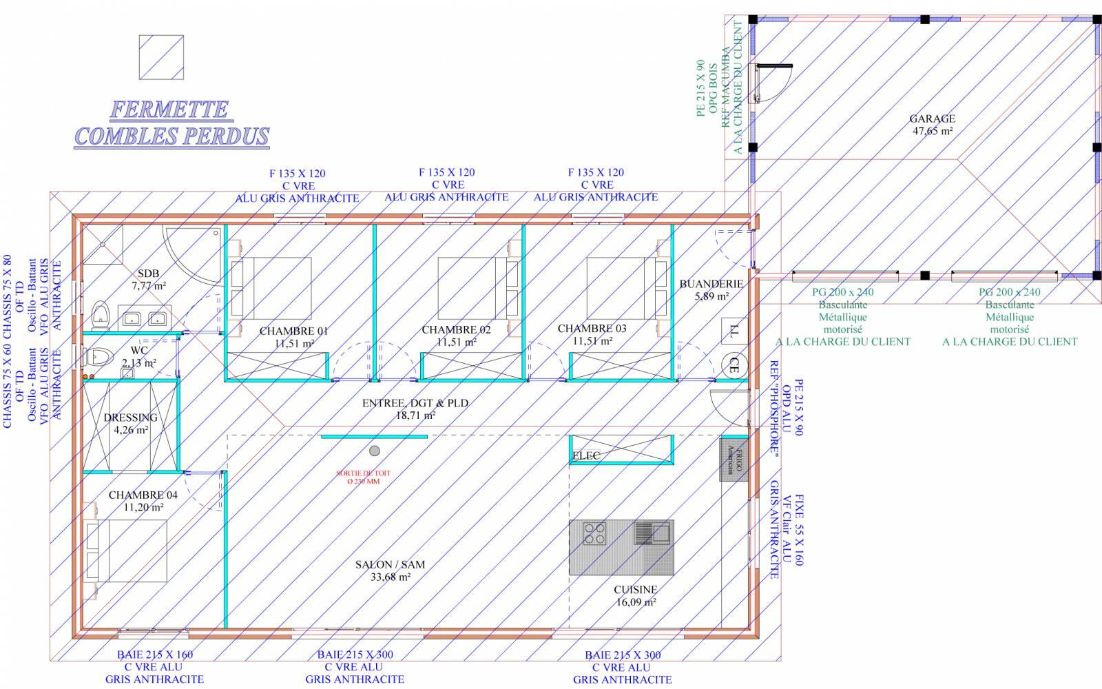 maison auto construction pr s de mont de marsan dans les landes 40 r f 00026 cogebois. Black Bedroom Furniture Sets. Home Design Ideas