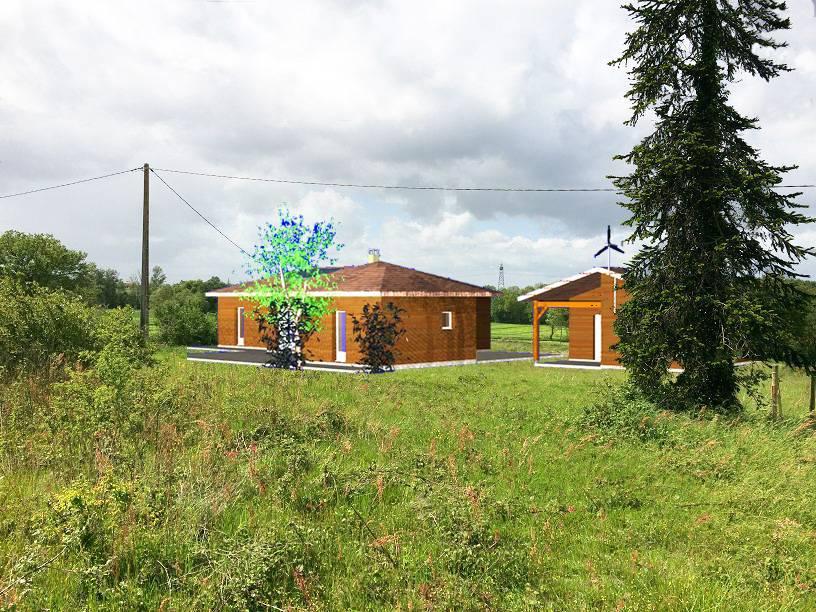 Maison ossature bois r f 30042 pr s de grenade en haute for Constructeur de maison en bois haute garonne