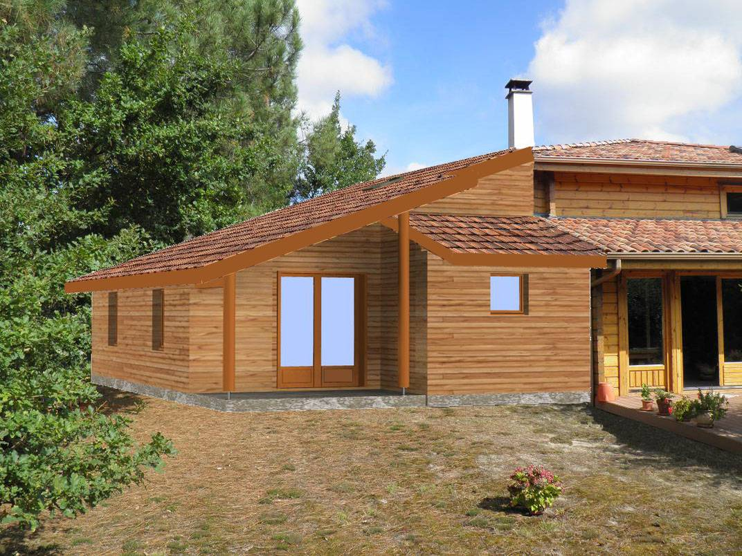 Agrandissement en auto construction mimizan dans les for Agrandissement maison 93