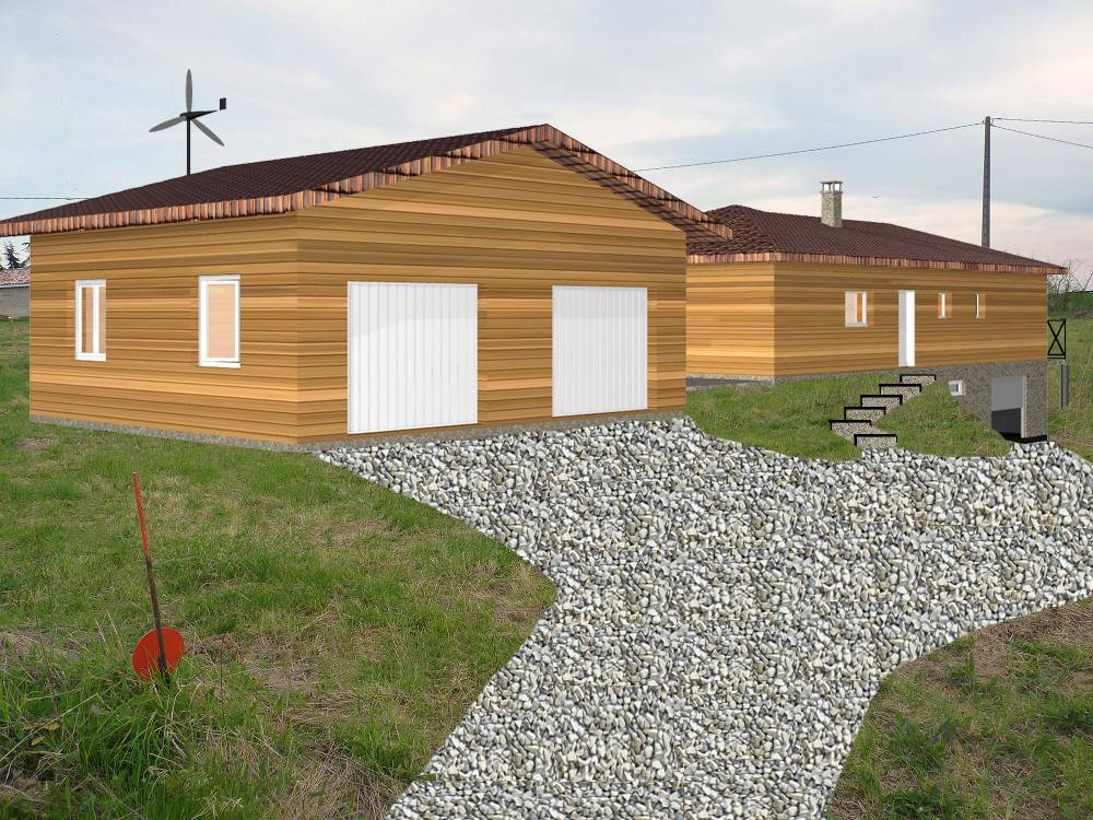 Maison ossature bois r f 30042 pr s de grenade en haute for Constructeur maison en bois tarn et garonne