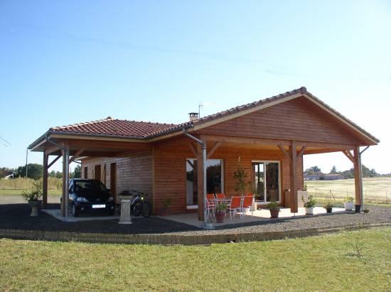 Fabriquer sa maison contemporaine à toit plat en bois Landes 40  ~ Faire Une Maison En Bois