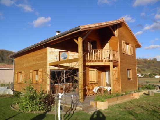 Fabrication d 39 abri de voiture en bois montauban tarn et garonne 32 cogebois for Fabrication ossature bois maison