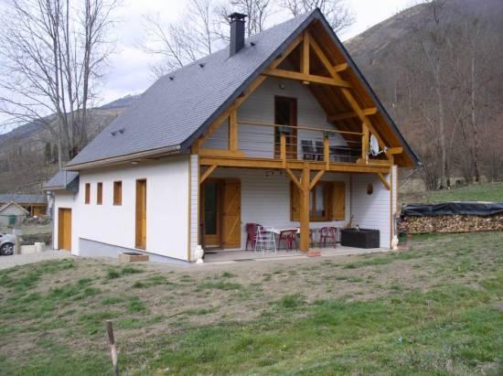 Maison bois r f 11 pr s de loudenvielle dans les hautes pyr n es 65 cogebois for Construction maison en bois hautes pyrenees